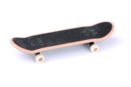 skate board: Fingerboard (skateboard) isolated on a white background