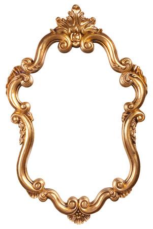 frame on wall: oro d'epoca telaio Archivio Fotografico