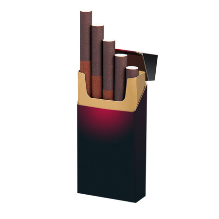 generals: A pack of cigarettes with space for text on a white background Stock Photo