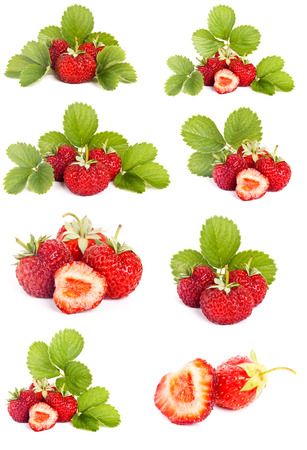 Strawberries isolated on a white background Banco de Imagens