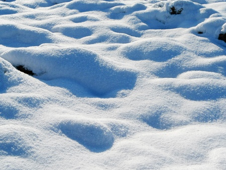 Small snowdrift as Background