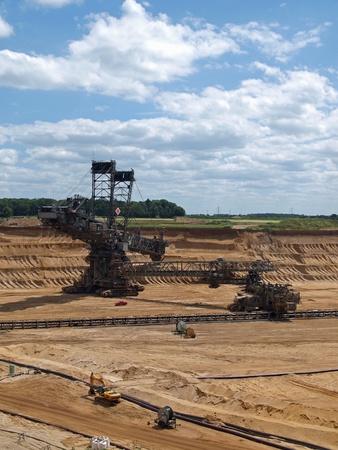 open pit: Bucket-wheel excavator in an open pit