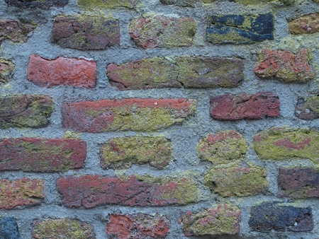 Detail of a wall out of bricks Stock Photo