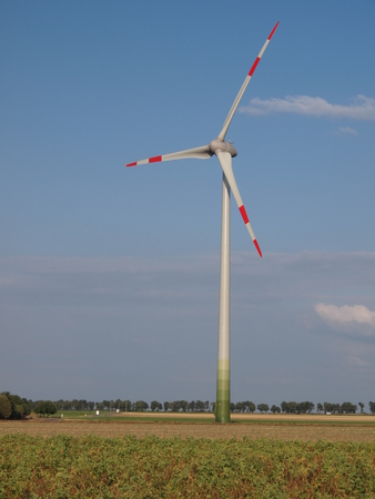 Wind as an alternate energy resource Stock Photo