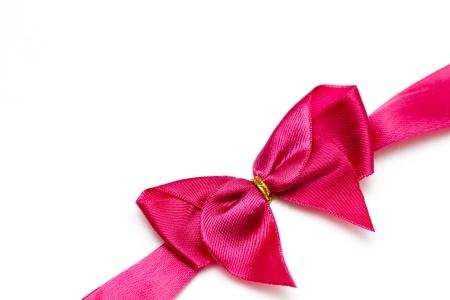 lazo rosa: Rosa arco del cuadro con chocolate  Foto de archivo