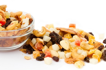 dried food: tropical nuts and fruits mix