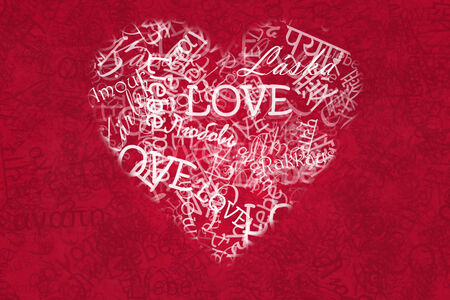Nice romantic made of word love written in various languages photo