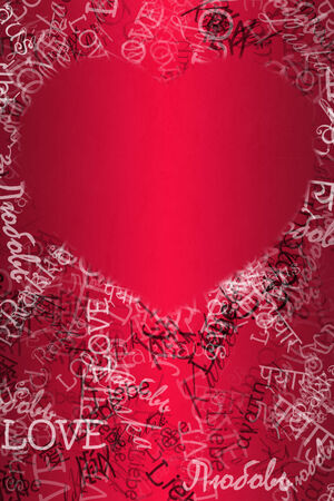 Nice romantic for St. Valentines Day with heart texture photo