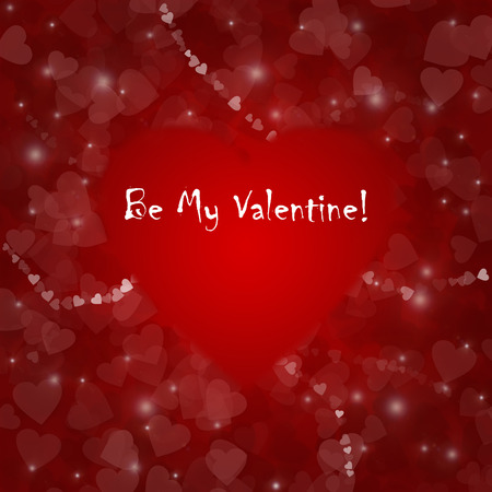 Square red romantic with place for text photo