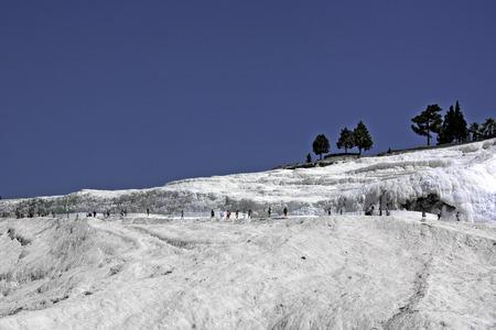 Heritage site Pamukkale in Denizli, Turkey