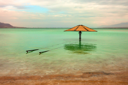sediments: Vivid seascape of the shores and surface of the Dead Sea