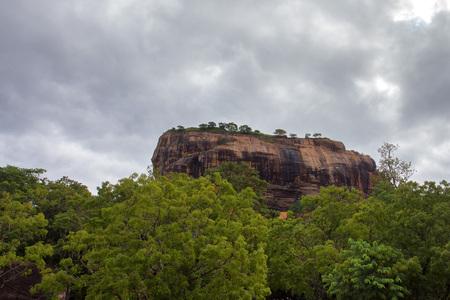 sigiriya: Sri Lanka landscape with famous rock Sigiriya Stock Photo