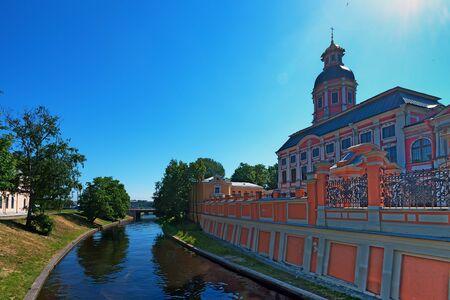 lavra: Alexander Nevsky Lavra in Saint-Petersburg in Russia Stock Photo