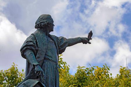 descubridor: Estatua de Chistopher Columbus en Santo-Domingo