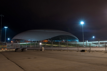 stadia: ADLER, SOCHI, RUSSIA - CIRCA MARCH, 2015: Bolshoy Ice Dome is main hockey arena during XXII Olympic winter games in March, 2015. Editorial