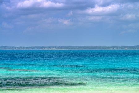 Tropical paradise beach located on island Zanzibar Stock Photo