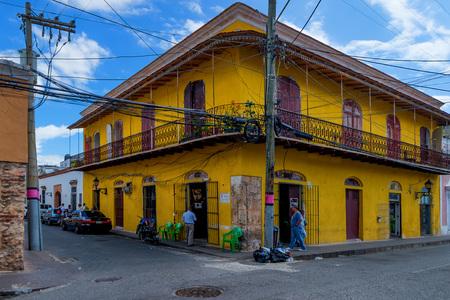conde: SANTO DOMINGO, DOMINICAN REPUBLIC - CIRCA NOVEMBER 2015: Typical streets in downtown of Santo Domingo in November 2015, Dominican Republic.