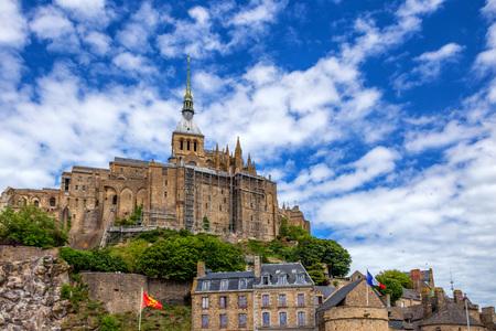 Medieval abbey Mont Saint-Michel in France Banque d'images