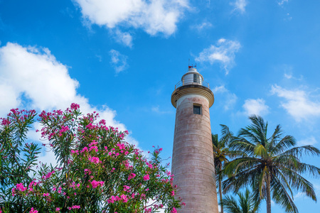 onshore: Lighthouse in Galle Stock Photo