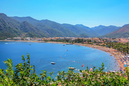 View over Icmeler suburb of Marmaris Stock Photo