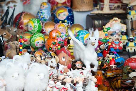 Russian souvenirs at market
