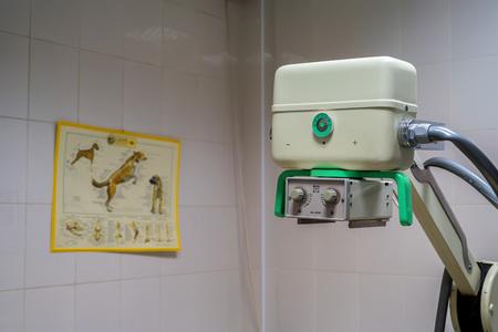 radiological: X-ray machine in veterinary hospital Stock Photo