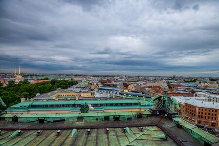 sobor: View from Isaacs Cathedral in Saint Petersburg Stock Photo
