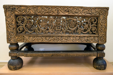 17th: Old wooden Russian table of 17th century