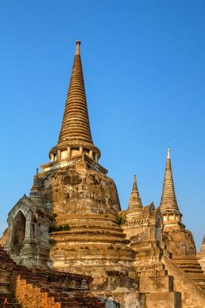 Stupas of Wat Si Sanphet, Ayutthaya, Thailand Stock Photo