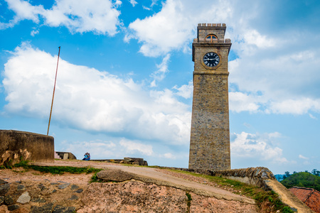 Clock tower in Galle Stock Photo