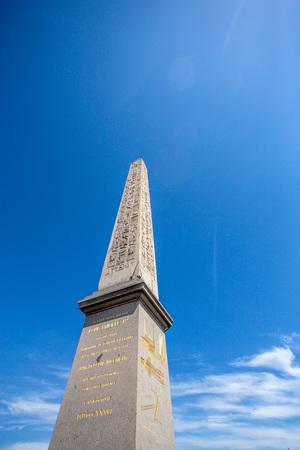 Luxor obelisk at Place de la Concorde in Paris Stock Photo