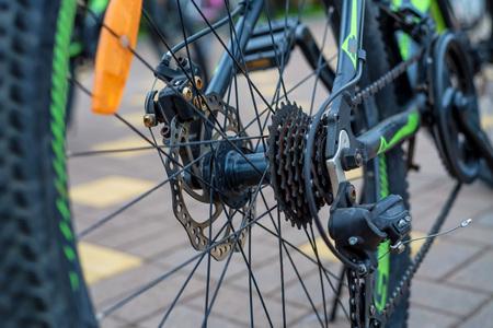 Rear wheel cassette from mountain bike
