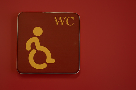 Wheelchair handicap sign