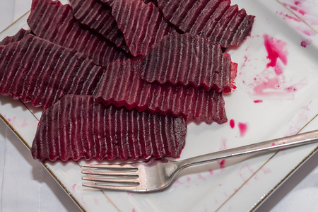 cutted: Sliced boiled beetroot