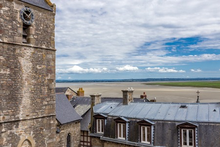 Scenic view to Mont Saint-Michel Stock Photo