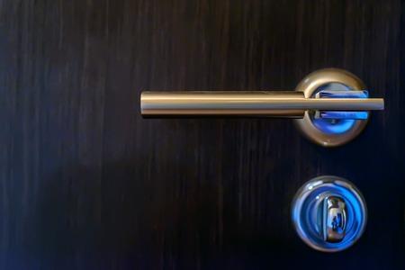 Closeup of metal bronze doorknob