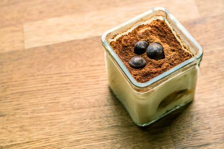 mascarpone: Tiramisu in glass cup