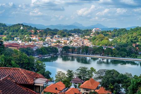 스리랑카에서 Kandy의 아름다운 전망