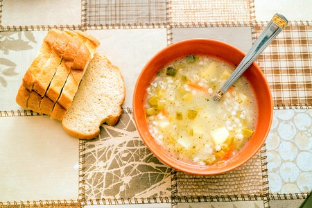 Rassolnik traditional Russian soup