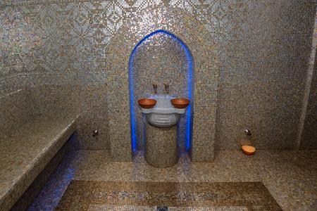 Turkish bath or Hamam at spa area Stock Photo