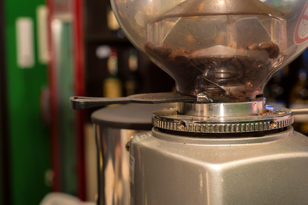 antique factory: Retro coffee machine close up