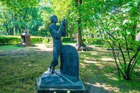 ST.PETERSBURG, RUSSIA - JUNE, 2015: DARGOMYZHSKY GRAVE