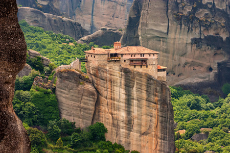 Holy Monastery of Rousanou in Meteora Stock Photo