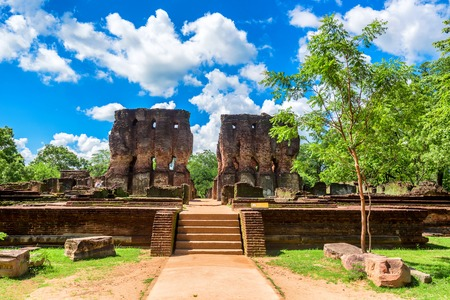 Royal palace of King Parakramabahu in Polonnaruwa Stock Photo