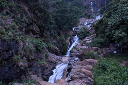 Ravana falls in Sri Lanka Stock Photo