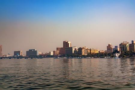 CAIRO, EGYPT - MARCH, 2010: VIEW FROM NILE Redakční