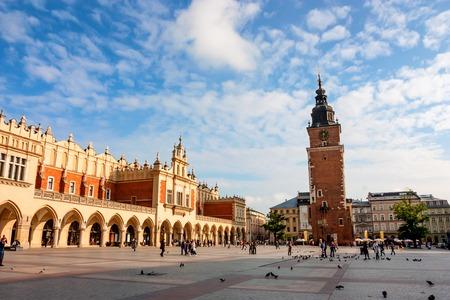 KRAKOW, POLAND - JUNE, 2012: Town Hall Tower Editorial