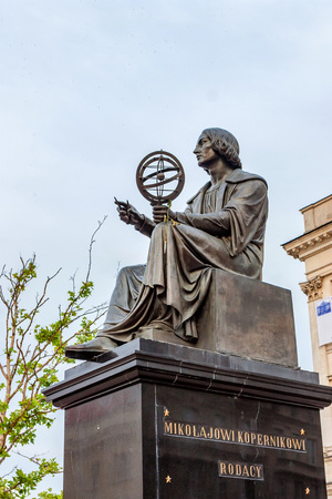 WARSAW, POLAND - JUNE, 2012: Statue of Copernicus Editorial