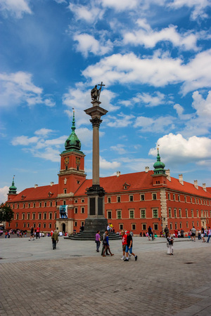 corinthian column: WARSAW, POLAND - JUNE, 2012: Sigismunds Column Editorial