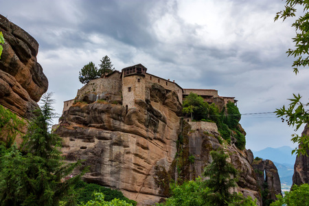 The Monastery of Varlaam or All Saints in Meteora Stock Photo